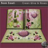 Book Easel Wine & Roses (Green)