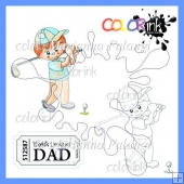 Golf Peter and sentiment digital stamps