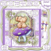 TOGETHER MICE 8x8 Decoupage & Insert Kit All Occasions