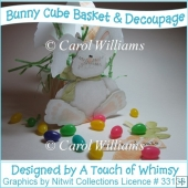 Bunny Basket with Decoupage Layers