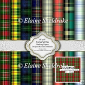 "8"" x 8"" Faux Tartan Paper - Set One - Backing Papers"