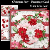 Chistmas Posy - Decoupage Card