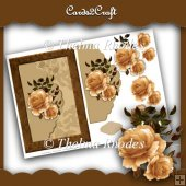 Cream Rose Card Topper