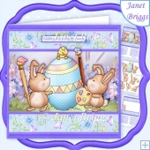 COLOUR ME HOPPY Easter 7.5 Decoupage & Insert Mini Kit