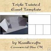 Triple Twisted Easel Card Template - Commercial Use.