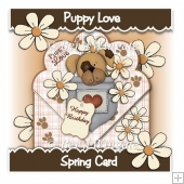 Puppy Love Spring Card
