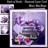 Stack of Books - Diamond Layer Card