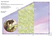 Tri Fold Meadows Edge Lilac Skies Horse & Pony Three Panel Card
