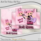 Rock Girls Column Fold Card