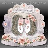 Love and Cherish Shaped Wedding Card