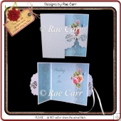 956 Fancy Tied Gatefold Card Multiple MACHINE Formats