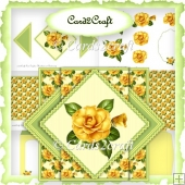 Yellow Rose pop up triangle set