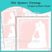 Pink Romance Pyramage with Hearts Backing Paper