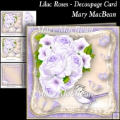 Lilac Roses - Decoupage Card