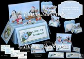 Christmas Penguins Pop-Up Box Card Kit & Matching Envelope