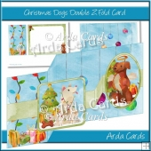 Christmas Dogs Double Z Fold Card