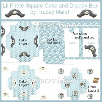 Home :: 3D Birthday Keepsakes :: 3D 3 Tier Lil Pirate Square Cake and ...