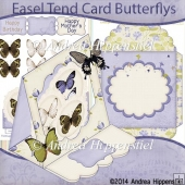 Easel Tent Card Butterflys