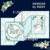 Winter Joy Double Z Fold Card