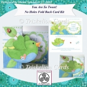 You Are So Tweet! No Hole Fold Back Card Kit Green Bird