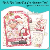 Mr & Mrs Claus Pop Out Banner Card Kit
