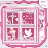 CHRISTENING or BAPTISM Girl or adult 7.5 Quick Layer Card