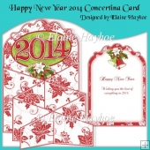 Happy New Year 2014 Concertina Card