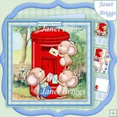 Post Mice 8x8 Decoupage & Insert Kit Various Occasions