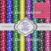 Big Bright Snowflakes Set One - 12 x 12 - PU - 300 dpi