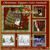 Christmas Toppers Cute Animals Bumper Kit with Sentiments