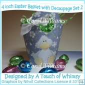 3 Easter Baskets with Decoupage Set 2