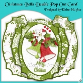 Christmas Bells Double Pop Out Card