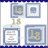 GOLDEN 18TH FOLDBACK CARD
