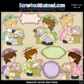 Annabelles Girly Baskets ClipArt Collection