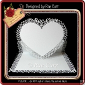 343 Frilly Heart Easel Card *Multiple MACHINE Formats*