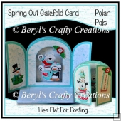 Spring Out Gatefold Card - Polar Pals
