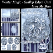 Winter Magic - Scallop Edged Card