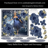 Faery Ballet Rose Topper with Decoupage