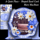 A Quiet Place - Shaped Easel Card
