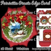 Poinsettia Ornate Edge Card