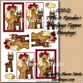 CCDS2 TEDDY & REINDEER SIMPLIPAGE TOPPER & DECOUPAGE