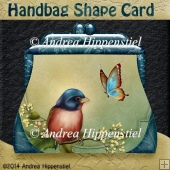 Handbag Shape Card Bird