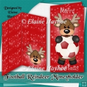 Football Reindeer Moneyholder & Envelope