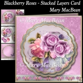 Blackberry Roses - Stacked Layer Card