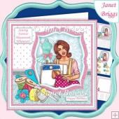 SEWING FOREVER HOUSEWORK WHENEVER Humorous 7.5 Decoupage Kit