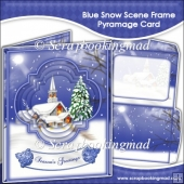 Blue Snow Scene Frame Pyramage Card
