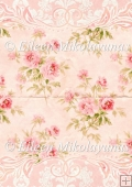 Cottage Chic Roses Decorator Border Backing Background Paper