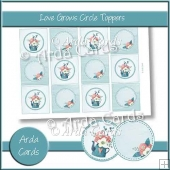 Love Grows Circle Toppers