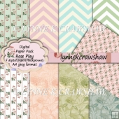 ROSE PLAY A4 Digital Paper Pack