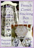 Vintage French Corset Advertising Stacking Box Set